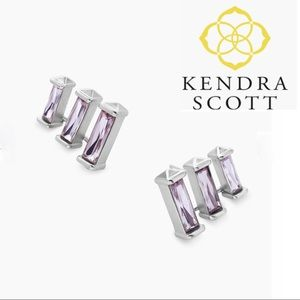 NWT KENDRA SCOTT Lilac Brooks Silver Ear Climber